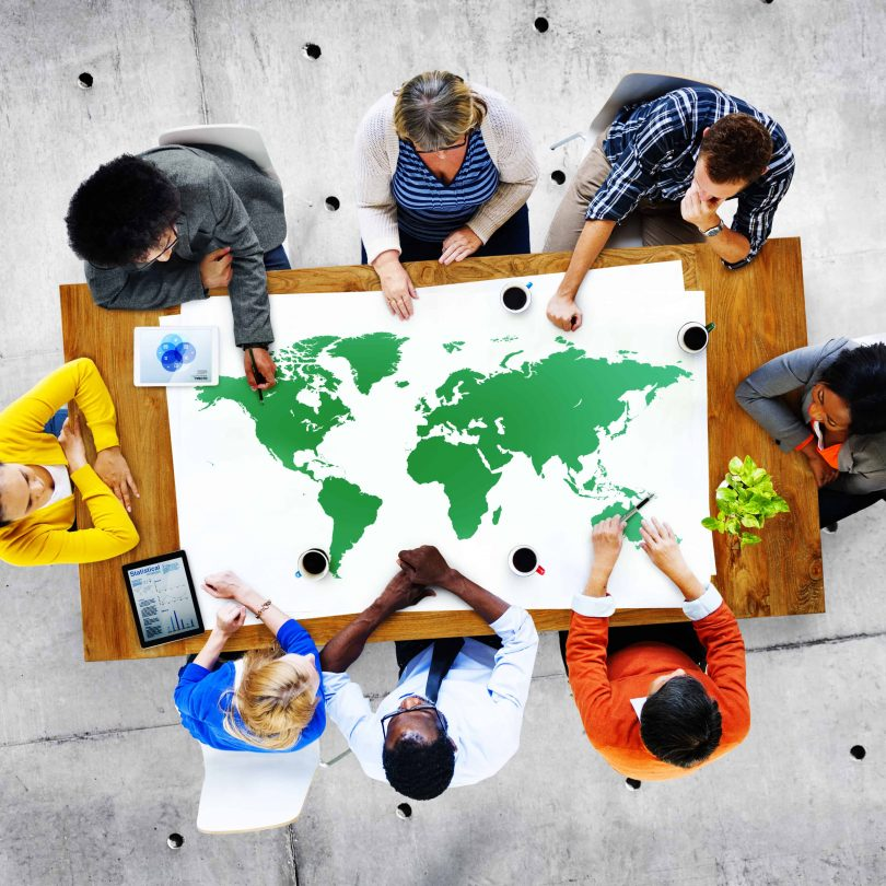 Group,Of,Diverse,Business,People,Discussing,About,World,Issues